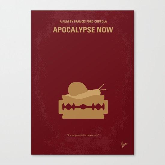 No006 My Apocalypse Now minimal movie poster Canvas Print