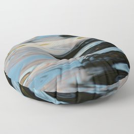 Abstract Water Surface Floor Pillow