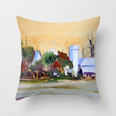 Middle America Throw Pillow