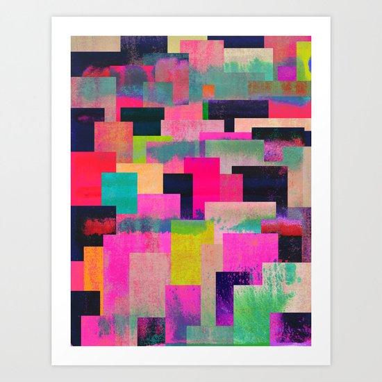 colour + pattern 4 Art Print