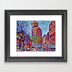 Harbour Centre From Gastown, Vancouver Framed Art Print