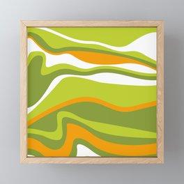Pesto Orange and green Framed Mini Art Print