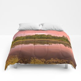 Pink Twilight Marsh Comforters