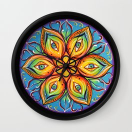 Eyes Open, Mouth Closed Wall Clock