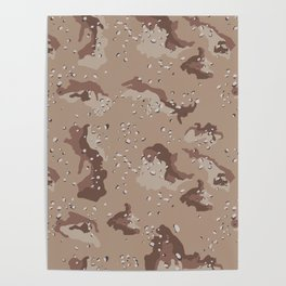 Desert Storm Army Camo Camouflage Military Uniform Pattern Fatigues USA Poster