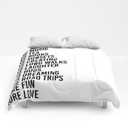 more sleep more music more tea Comforters