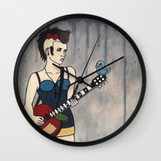 Punk White Wall Clock
