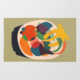 Fruits in wooden bowl Rug