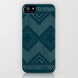 Teal Tribal iPhone Case