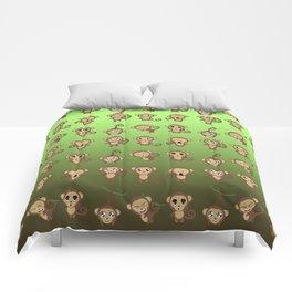 Funny Monkeys Comforters
