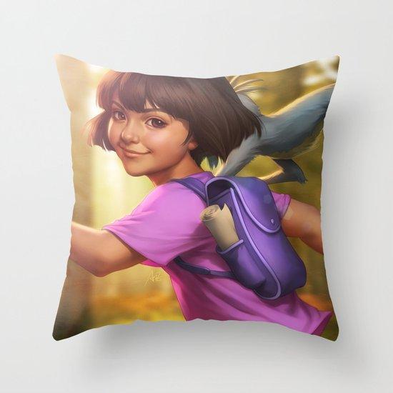 The Little Explorer Throw Pillow