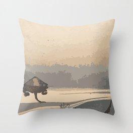 Japan Art, Turtles Throw Pillow