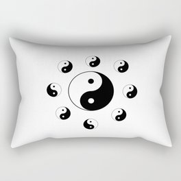 Yin and Yang 18- Tao,Zen,Taoism,Dao,Harmony,religion,buddhism,buddhist,taijitu,taiji,taoist,china Rectangular Pillow