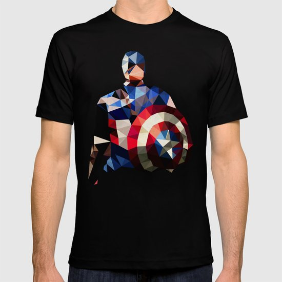 Polygon Heroes - Captain America T-shirt
