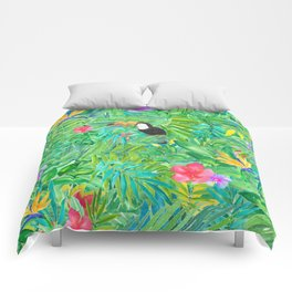 Foret tropicale Comforters
