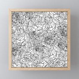 SPRING IN BLACK AND WHITE Framed Mini Art Print