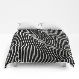 Minimal curves black Comforters