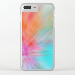Abstract Big Bangs 002 Clear iPhone Case