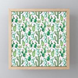 Cactus Oh Cactus Framed Mini Art Print