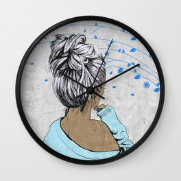 Her Thoughts Wall Clock