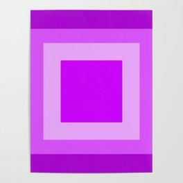 Light Purple Square Design Poster