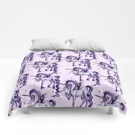 Unicorn with Bat Wings Comforters