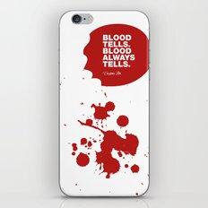 Dexter no.4 iPhone & iPod Skin