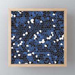 Sapphire Blue Polycamo Framed Mini Art Print