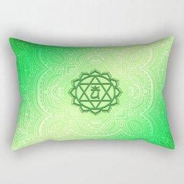 Heart Chakra by Golden Ascension Rectangular Pillow