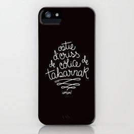 Sacres Québec - White iPhone Case