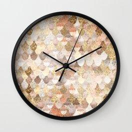 MERMAID GOLD Wall Clock