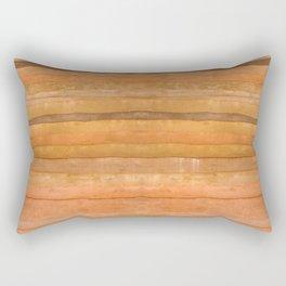 Gold Coral Wood Panel Rectangular Pillow