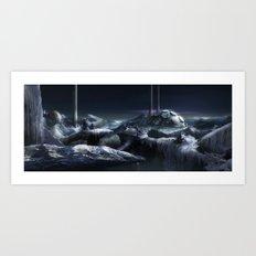 Ice City Art Print