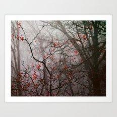 Forest of Red Art Print