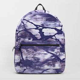 Inkwell Blue Fractures Abstract Expressionism Backpack