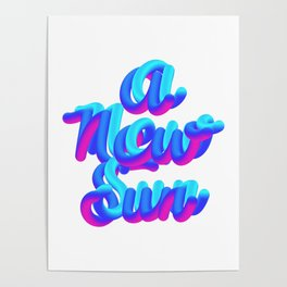 A new sun typography 3d M83 Poster
