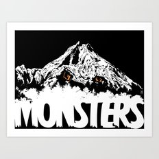 Monsters ( The Living Mountain ) Art Print