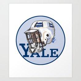 Yale Bulldogs Bucket Helmet Art Print