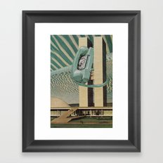 Hang Up The Phone Framed Art Print