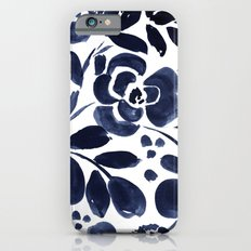 Navy Floral Slim Case iPhone 6s