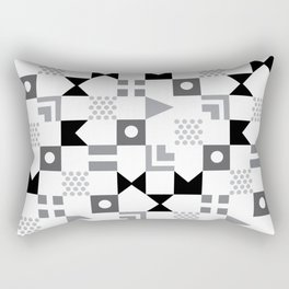 Pattern Pandemonium-Black Rectangular Pillow