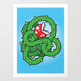 Audrey II: The Piranha Plant Art Print