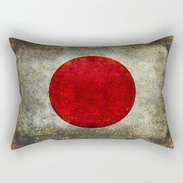 National flag of Japan - Super Grunge Rectangular Pillow