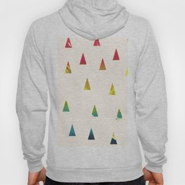 Geometrical pink yellow teal blue watercolor ombre triangles Hoody