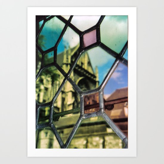 "Aquisgrana's secret (Aachen) ""GEOROMANTIC"" series Art Print"