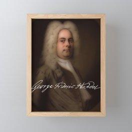 George Frideric (or Frederick) Handel (born Georg Friedrich Händel) by Balthasar Denner (c.1726–172 Framed Mini Art Print