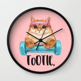 "ToOtie Bunface ""I'm Sa Cathletic"" Goodies Wall Clock"
