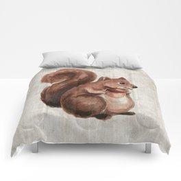 Little Squirrel, Woodland Animals, Forest Friends, Baby Animals, Children's Art Comforters