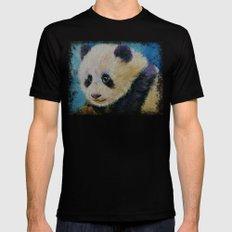 Panda Cub MEDIUM Black Mens Fitted Tee