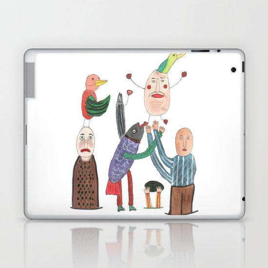 Crazy Egg. Laptop & iPad Skin